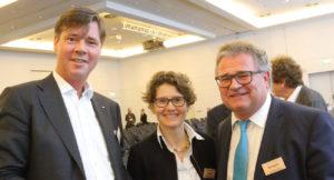 Portraitbild von links: Carsten Sohn, Eveline Lemke und Eric Rehbock